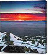 The Burning Clouds At Crater Lake Canvas Print
