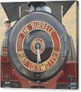 The Burrell Road Locomotive Canvas Print