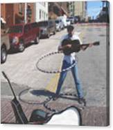 The Busker King Canvas Print