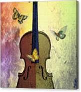 The Butterflies And The Violin Canvas Print