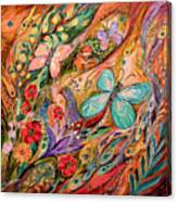 The Butterflies On Wind Canvas Print