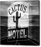 The Cactus Motel Canvas Print