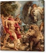 The Calydonian Boar Hunt Canvas Print