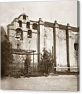 The Campanario, Or Bell Tower Of San Gabriel Mission Circa 1880 Canvas Print