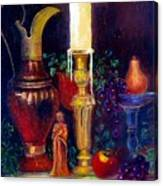 The Candlestick And Pitcher Canvas Print