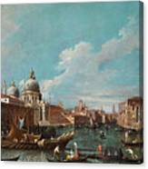 The Cannament Of The Great Canal Canvas Print