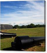 The Cannons At Fort Moultrie In Charleston Canvas Print