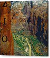 The Canyon Of Zion Canvas Print