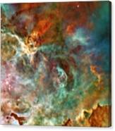 The Carina Nebula Panel Number Three Out Of A Huge Three Panel Set Canvas Print