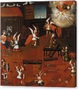The Carpenters Shop In Nazareth Canvas Print