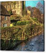 The Castle At Brecon Canvas Print