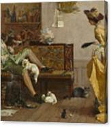 The Cat Lover Visited  Canvas Print
