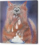 The Cat Who Got The Cream Canvas Print