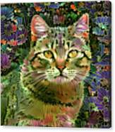 The Cat Who Loved Flowers 1 Canvas Print