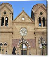 The Cathedral Basilica Of St. Francis Of Assisi, Santa Fe, New M Canvas Print