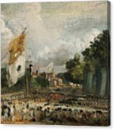 The Celebration In East Bergholt Of The Peace Of 1814 Concluded In Paris  Canvas Print