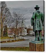 The Center Of Grafton Ma Canvas Print