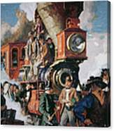 The Ceremony Of The Golden Spike On 10th May Canvas Print