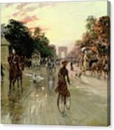 The Champs Elysees - Paris Canvas Print