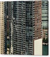 The Chandler Condominiums Building Chicago Aerial Canvas Print