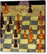 The Chess Game, New York City C. 1977 Canvas Print