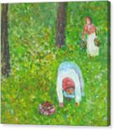 The Chestnut Gatherers Canvas Print