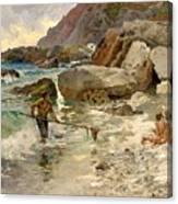 The Children Of The Sea - Capri Canvas Print
