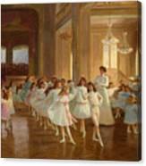 The Children's Dance Recital At The Casino De Dieppe Canvas Print