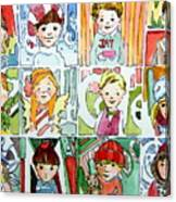 The Christmas Cousins Canvas Print