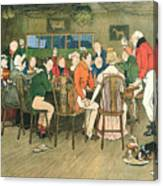 The Christmas Dinner At The Inn Canvas Print