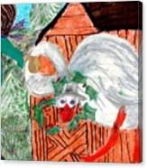 The Christmas Goose Canvas Print
