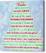 The Christmas Prayer Canvas Print