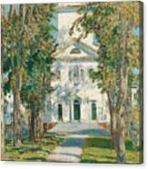 The Church At Gloucester, 1918 Canvas Print