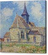 The Church At Porte-joie On The Eure By Gustave Loiseau Canvas Print