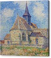 The Church At Porte-joie On The Eure Canvas Print