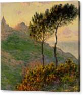 The Church At Varengeville Against The Sunlight Canvas Print