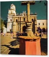 The Church Of San Juan Bautista Of Coyoacan 2  Canvas Print