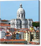 The Church Of Santa Engracia And Rooftops -- Lisbon Canvas Print