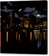 The City Dark Canvas Print