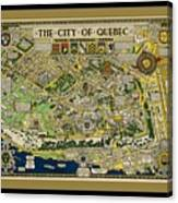 The City Of Quebec Canada Canvas Print