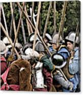 The Clash Of The Pikemen Canvas Print