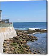 The Cliff Walk Newport Rhode Island 4 Canvas Print
