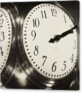 The Clock At Grand Central Canvas Print