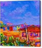 The Clothesline Canvas Print