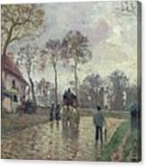 The Coach To Louveciennes Canvas Print
