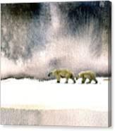 The Cold Walk Canvas Print