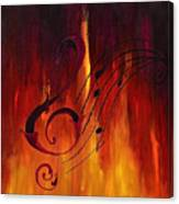 The Color Of Music Canvas Print