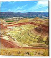 The Colorful Painted Hills In Eastern Oregon Canvas Print