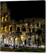 The Colosseum In Rome At Night Canvas Print
