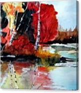 The Colours Of Autum Definitely Red Canvas Print